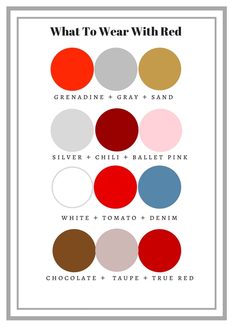 Color Combinations Featuring Red