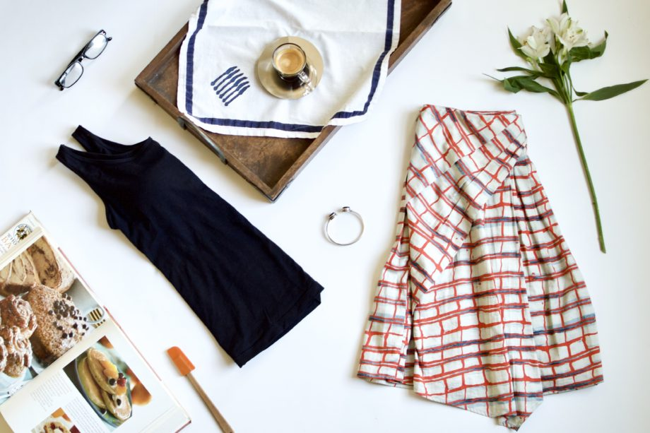 Father's Day Breakfast Outfit: Printed Skirt + Tank Top