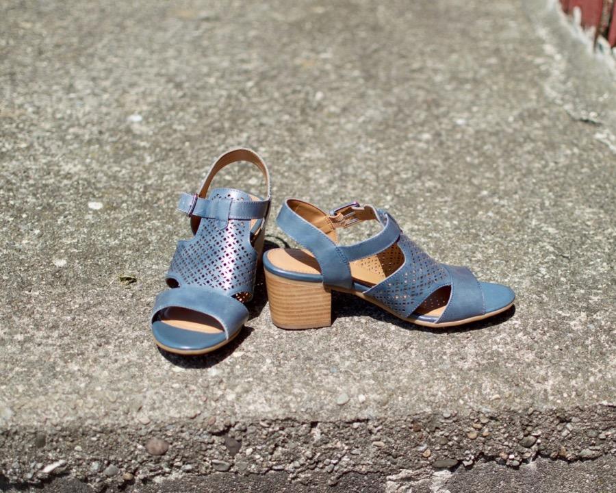 Comfortiva Denim Sandals