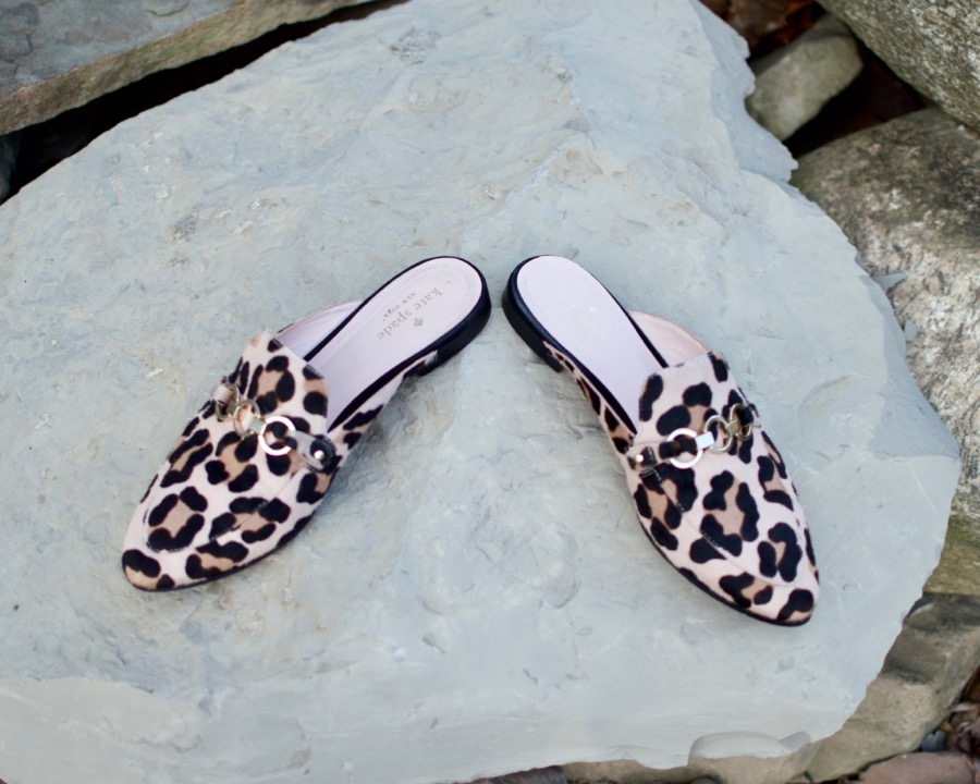 Kate Spade Pink Leopard Mules