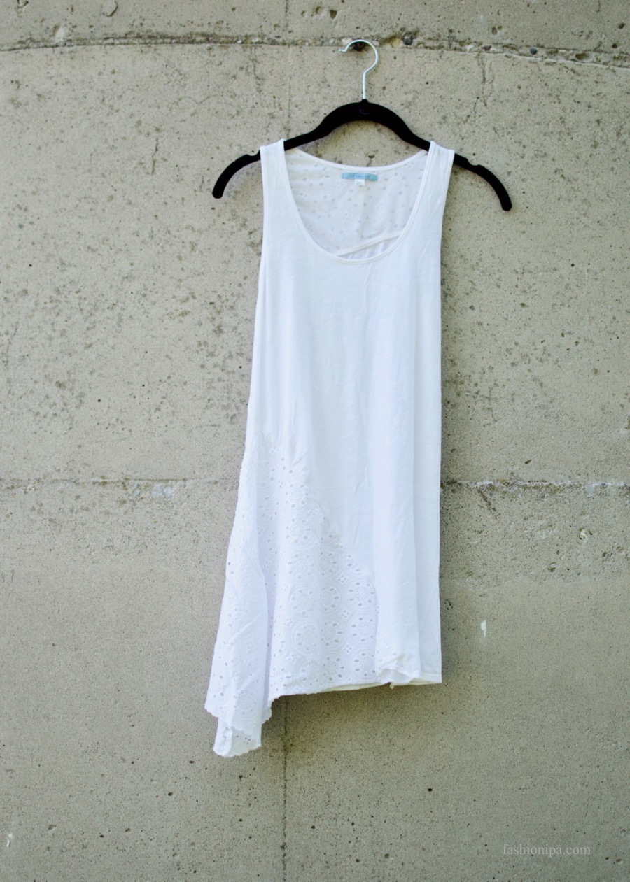 Anthropologie Eyelet Handkerchief Hem Tank