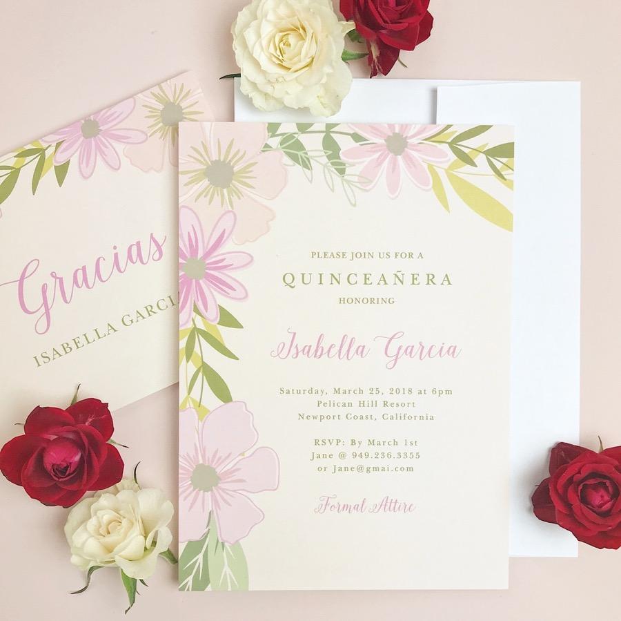 Pretty Posies Celebration Invitation