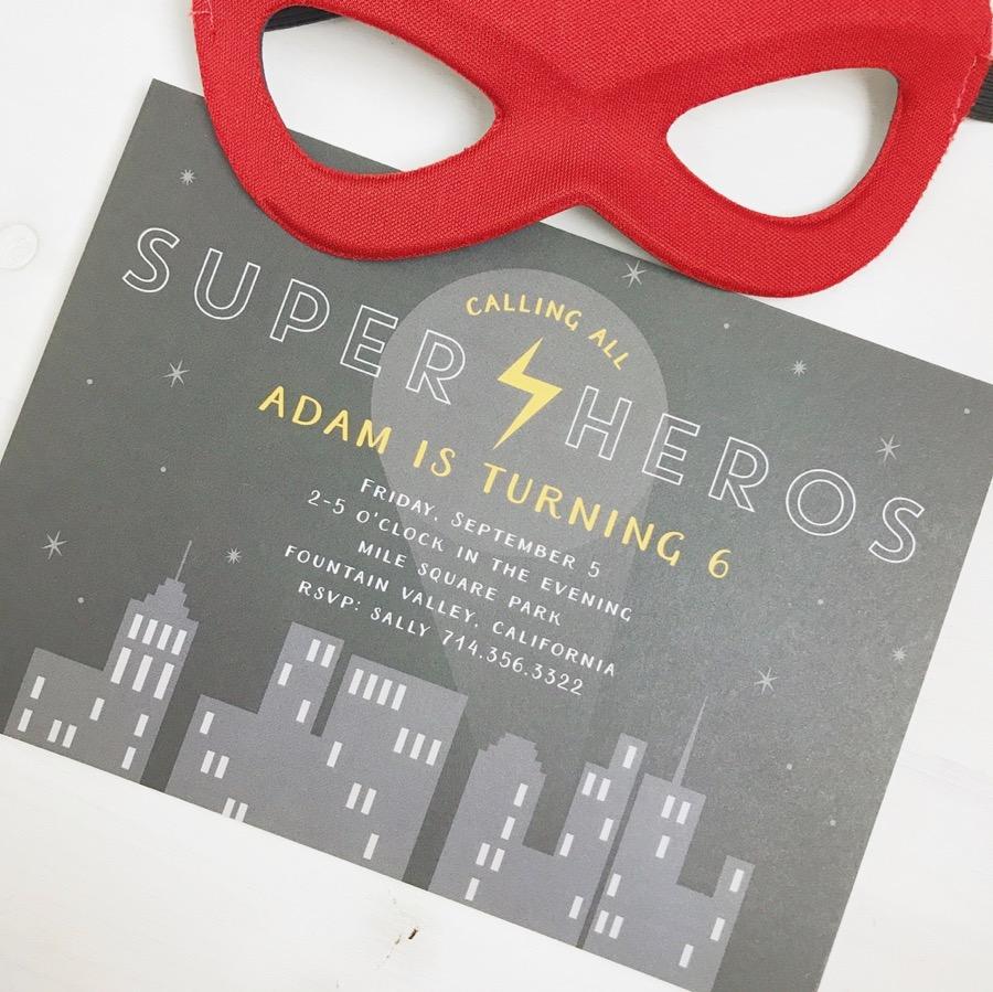 Super Hero Invitation