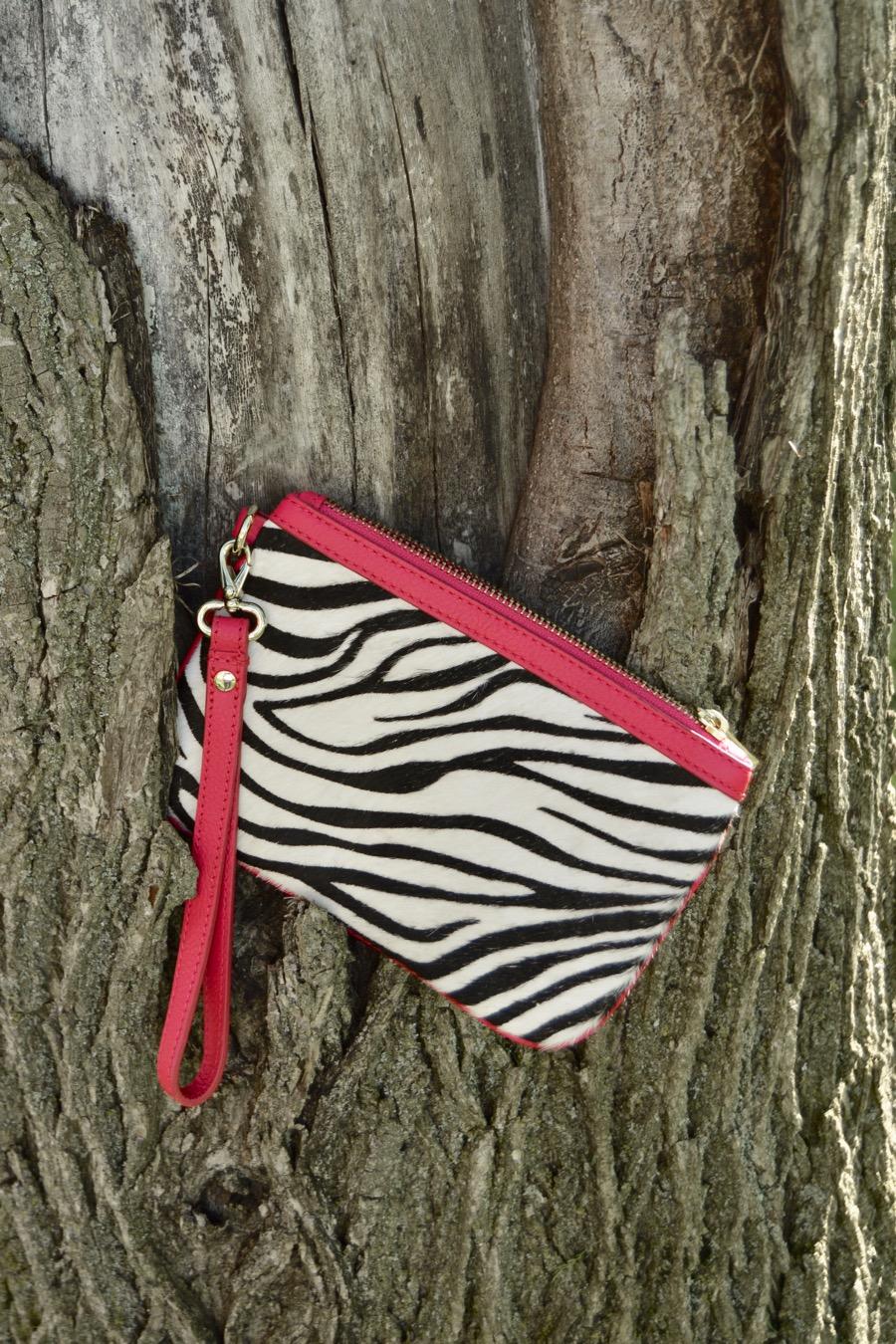 Mini Bag Zebra Wristlet