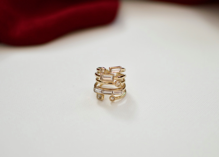 Winter Fashion Upgrades: stacked rings