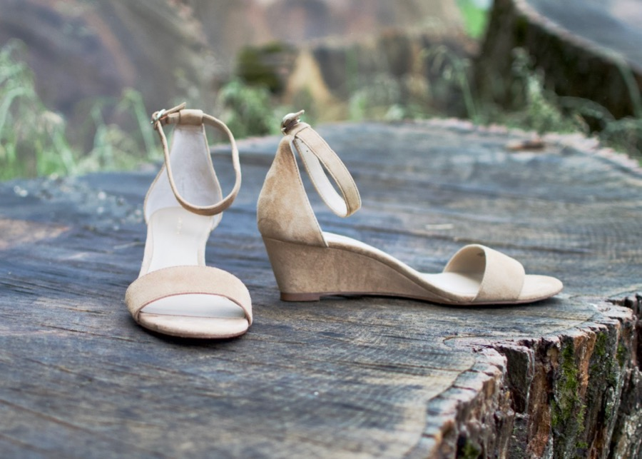 Practical Summer Sandals: Ann Taylor Giulinana Suede Wedges