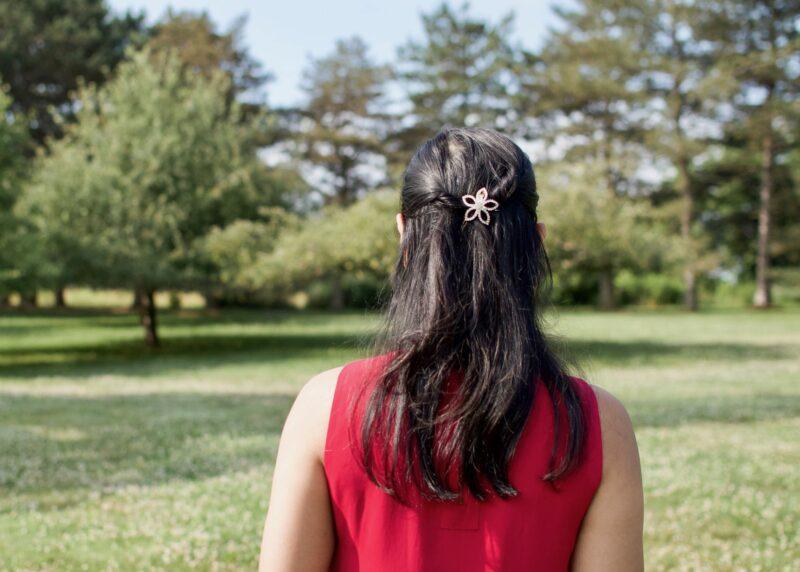 Hair Accessories: Crystal Flower Clip