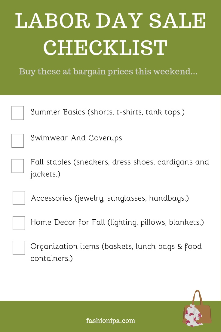 Labor Day Sales Checklist