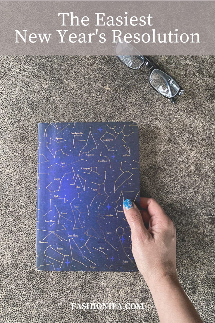 Celestial journal to record your New Year's Resolution.